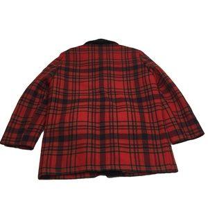034df495d VTG Pendleton Red Plaid Fur Collar Lined Jacket L